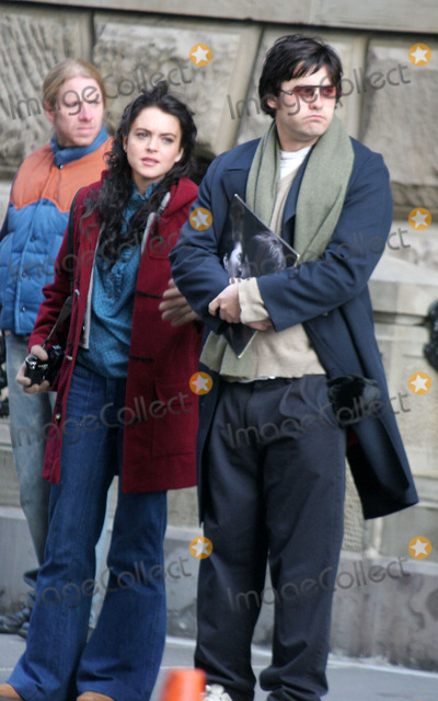 "Jared Leto, Lindsay Lohan, John Lennon Photo - Filming of "" Chapter 27 "" Story of Mark David Chapman and the Day Leading to the Murder of John Lennon at West 72 St Central Park West , New York City 01-20-2006 Photo by John Barrett-Globe Photos ,Inc Lindsay Lohan Jared Leto"
