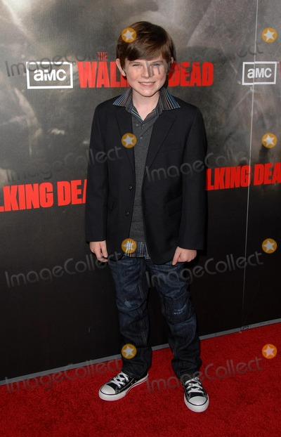 "Chandler Riggs Photo - Amc Premiere Screening of ""the Walking Dead"" at Arclight Cinemas Hollywood in Hollywood, CA 10/26/10 Photo by Scott Kirkland-Globe Photos @ 2010 Chandler Riggs"