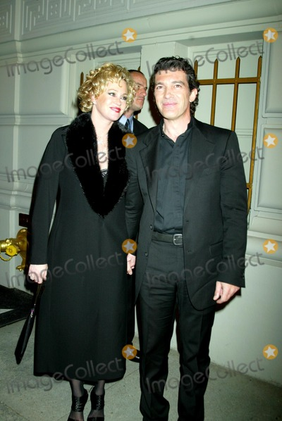 "Antonio Banderas, Melanie Griffith, Melanie Griffiths Photo - ""Singin' in the Rain Forest"" the 12th Carnegie Hall Benefit Concert in Support of the Rainforest Foundation. (after-party) the Pierre Hotel , New York City. 04-21-2004 Photo: Sonia Moskowitz /Globe Photos,inc. 2004 Melanie Griffith and Antonio Banderas"
