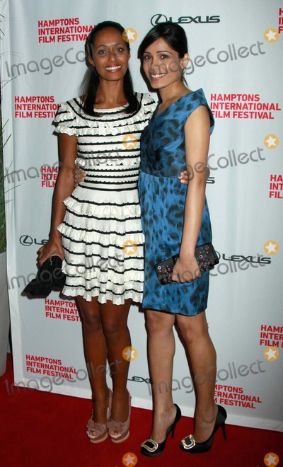 "Rula Jebreal, Frieda Pinto Photo - The Hamptons International Film Festival ""Miral"" Screening #2 Regal East Hampton Cinema 10-09-2010 Rula Jebreal, Frieda Pinto Photo by Sonia Moskowitz-Globe Photos, Inc. 2010"