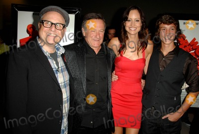 """Robin Williams, Alexie Gilmore, Bobcat Goldthwait, Alexis Gilmore Photo - Bobcat Goldthwait, Robin Williams, Alexie Gilmore, Evan Martin attends the Los Angeles Premiere of """" Worlds Greatest Dad"""" Held at the Landmark Theatre in Los Angeles, California on August 13, 2009 Photo by: David Longendyke-Globe Photos Inc. 2009"""