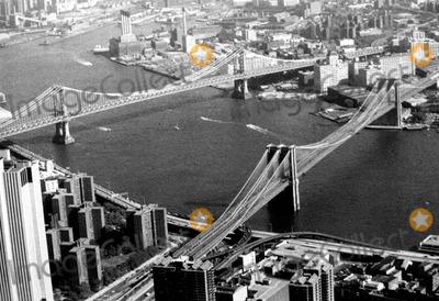 Photo - New York Harbor Brooklyn and Manhattan Bridges New York City Photo By:dara-lynn/Globe Photos, Inc