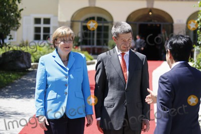 Angela Merkel Photo - German Chancelor Angela Merkel and Her Husband, Joachim Sauer, Welcome Guests at the G7 Summit at Elmau Castle Near Garmisch-partenkirchen, Germany, on 07 June 2015. Photo: Alec Michael