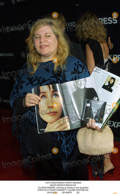 Allison Anders Photo - Independent Spirit Awards Santa Monica Beach CA. Allison Anders (Showing a Articale on Her Daughter) Photo by Fitzroy Barrett / Globe Photos Inc. 3-24-2001 K21409fb (D)