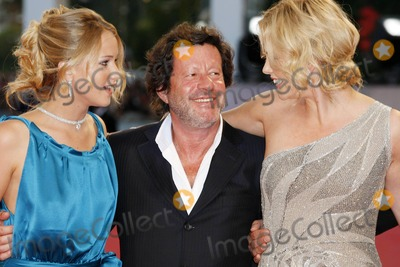 "Charlize Theron, Jennifer Lawrence, Joaquim de Almeida Photo - "" the Burning Plain "" - Premiere at 65th Venice Film Festival in Venice , Italy 08-29-2008 Photo by Graham Whitby Boot-allstar-Globe Photos, Inc.2008 Jennifer Lawrence, Joaquim DE Almeida and Charlize Theron"
