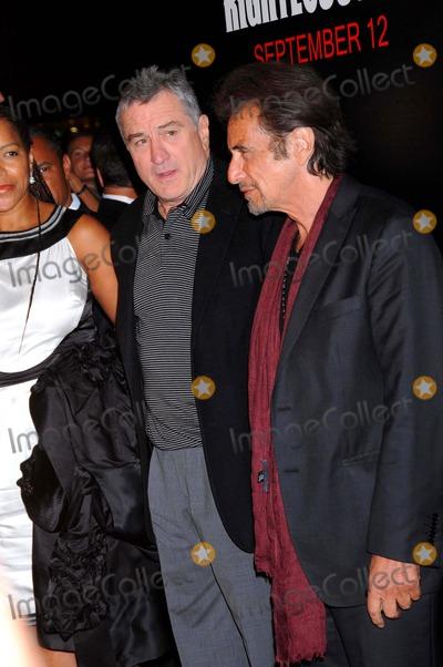"Al Pacino, ROBERT DENIRO Photo - ""Righteous Kill"" Premiere Ziegfeld Theater, NYC. 09-10-2008 Photo by Ken Babolcsay -ipol-Globe Photos 2008 Robert Deniro and AL Pacino"