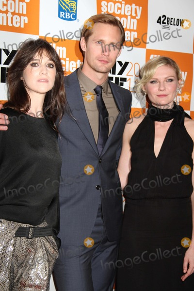 "Charlotte Gainsbourg, Kirsten Dunst, Alexander Skarsgaard Photo - The 49th Annual New York Film Festival Presents the Nyff Presentation of ""Melancholia"" Alice Tully Hall, NYC October 3, 2011 Photos by Sonia Moskowitz, Globe Photos Inc 2011 Charlotte Gainsbourg, Alexander Skarsgaard, Kirsten Dunst"