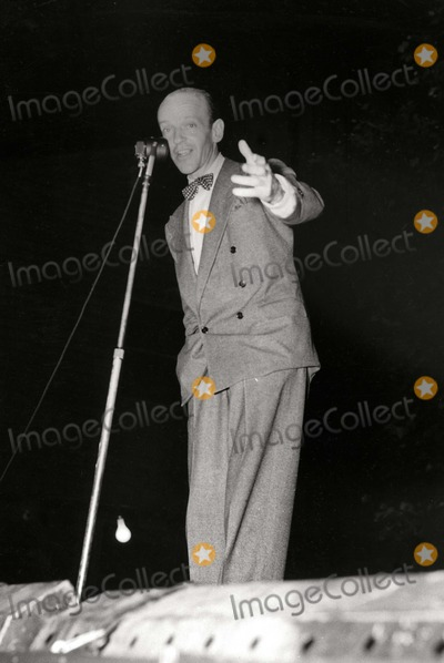 Astaire, Fred Astaire Photo - Fred Astaire (Without Toupee) Entertains at War Bond Tour 1942 Photo: Globe Photos Inc