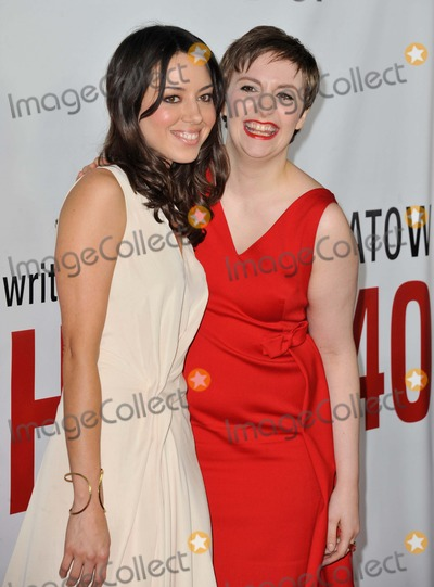 """Aubrey Plaza, Lena Dunham, Grauman's Chinese Theatre Photo - Aubrey Plaza, Lena Dunham attending the Los Angeles Premiere of """"This Is 40"""" Held at the Grauman's Chinese Theatre in Hollywood, California on December 12, 2012 Photo by: D. Long- Globe Photos Inc."""