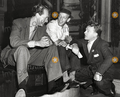 Astaire, Fred Astaire, James Cagney, Paul Henreid Photo - Paul Henreid, Fred Astaire and James Cagney Backstage at War Bond Tour 1942 Photo: Globe Photos Inc