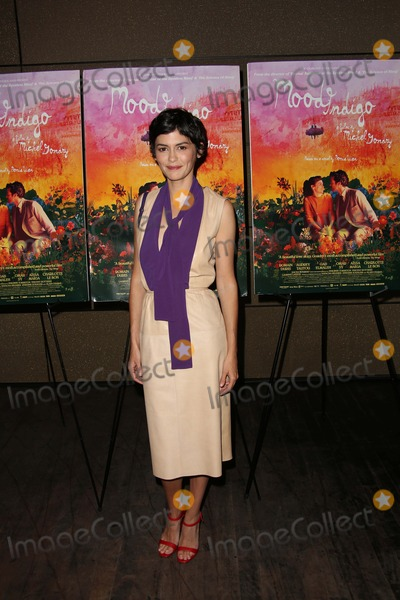 "AUDREY TATOU Photo - The New York Premiere of ""Mood Indigo"" the Tribeca Grand Hotel, NYC July 16, 2014 Photos by Sonia Moskowitz, Globe Photos Inc 2014 Audrey Tatou"