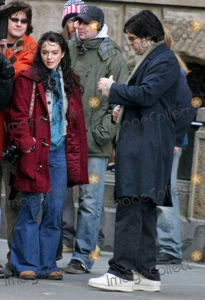 """Jared Leto, Lindsay Lohan, John Lennon Photo - Filming of """" Chapter 27 """" Story of Mark David Chapman and the Day Leading to the Murder of John Lennon at West 72 St Central Park West , New York City 01-20-2006 Photo by John Barrett-Globe Photos ,Inc Lindsay Lohan Jared Leto"""