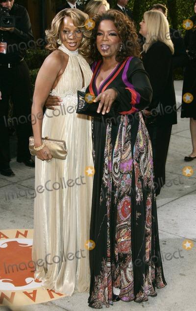 Mary J. Blige, Oprah Winfrey Photo - Mary J Blige, Oprah Winfrey Singer & Tv Presenter K51945 79th Annual Academy - Oscar Awards Vanity Fair Party at Morton's , Los Angeles CA. 02-25-2007 Photo by Graham Whitby-allstar-Globe Photos, Inc.