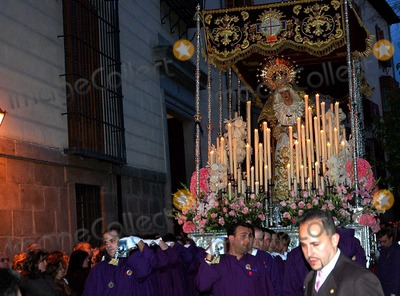 """Antonio Maria Rouco Varela, Neils Schneider Photo - 04-06-2007_Madrid Spain_Cardinal Antonio Maria Rouco Varela of Madrid is the lead celebrant during the Easter processionsof """"Jesus de Pobre"""" and """"Maria Santisima De La Esperanza Macarena"""" two holy icons held on the shoulders of worshippers and moved through the narrow streets of the old city in Madrid.PHOTO BY NEIL SCHNEIDER-GLOBE PHOTOSK52469NS"""