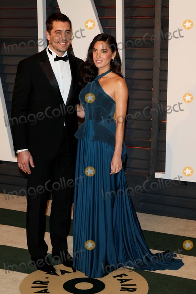 Aaron Rodgers, olivia munn, Wallis Annenberg Photo - Actress Olivia Munn and Aaron Rodgers Attend the Vanity Fair Oscar Party at Wallis Annenberg Center For the Performing Arts in Beverly Hills, Los Angeles, USA, on 22 February 2015. Photo: Alec Michael