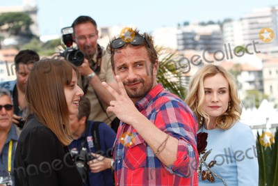 Diane Kruger, Matthias Schoenaerts, Alice Winocour Photo - Director Alice Winocour (L), Actors Diane Kruger and Matthias Schoenaerts Attend the Photocall of Maryland - Disorder at the 68th Annual Cannes Film Festival at Palais Des Festivals in Cannes, France, on 16 May 2015. Photo: Alec Michael