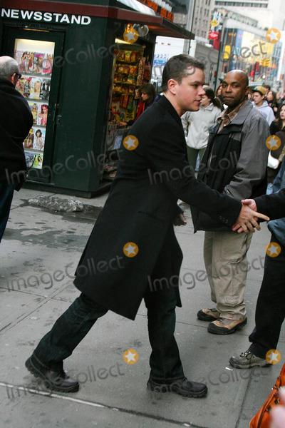 """Matt Damon Photo - Matt Damon Movie Shoot ''the Bourne Ultimatum""""' Date 02-21-2007 Photo by John Barrett-Globe Photos, Inc."""
