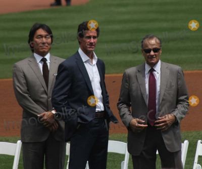 Andy Pettitte, Hideki Matsui, Joe Torre, Paul O'Neill, Joe Corré Photo - New York Yankees Retire Andy Pettitte Number46 on Sunday August 23rd 2015 Jose Posada Number 20 Was Also Retired on Saturday August 22nd 2015!!! Photo by William Regan- Globe Photos Inc.