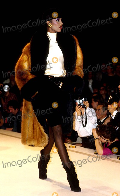 Iman, Anne Klein Photo - Iman at Anne Klein Fashion Show 4-1983 #12755 Photo by James Colburn-ipol-Globe Photos, Inc.