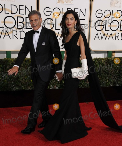 George Clooney, Amal Alamuddin, Hüsker Dü Photo - Amal Alamuddin Clooney, George Clooney attending the 72nd Annual Golden Globe Awards - Arrivals Held at the Beverly Hilton Hotel in Beverly Hills, California on January 11, 2015 Photo by: D. Long- Globe Photos Inc.