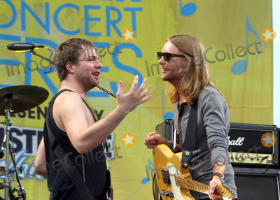 James Valentine, Maroon 5, Michael Madden Photo - Maroon 5 Perform on Abc's Good Morning America Concert Series at Bryant Park, New York City 06-27-2008 Photo by Bruce Cotler-Globe Photos, Inc. Michael Madden and James Valentine