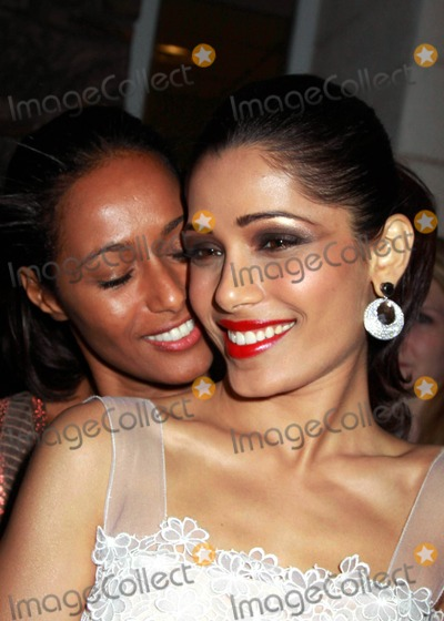 "Julian Schnabel, Rula Jebreal, UA Theater, Frieda Pinto Photo - The Hamptons International Film Festival 2010 Screening of ""Miral"", Directed by Julian Schnabel Ua Theater, East Hampton, NY. 10-08-2010 Photos by Sonia Moskowitz, Globe Photos Inc 2010 Frieda Pinto, Rula Jebreal"