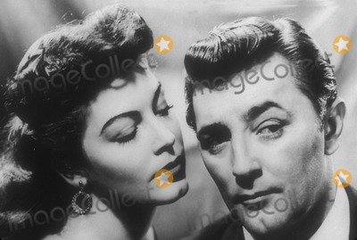 "Robert Mitchum, Ava Gardner, Tv-film Still, Tv-film Stills Photo - Robert Mitchum with Ava Gardner in ""My Forbidden Past"" Supplied by Globe Photos, Inc. Tv-film-still"