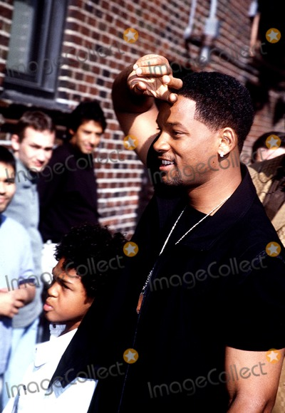 """Will Smith, David Letterman, Ed Sullivan Photo - Will Smith and Son Trey Arrived at """"Late Show with David Letterman"""" at Ed Sullivan Theatre Photo by Ricik Mackler/rangefinder/Globe Photos, Inc."""
