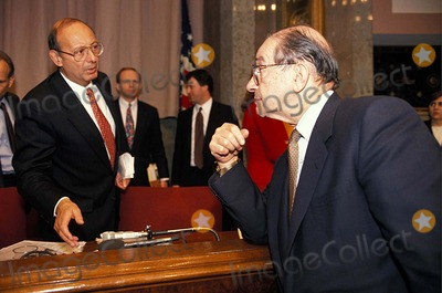 Alan Greenspan, Al D'Amato Photo - Alan Greenspan with AL D'amato at the Senate Banking Committee Hearing on Mexican Bailout 3-9-1995 #16986 Photo by James Colburn-ipol-Globe Photos, Inc.