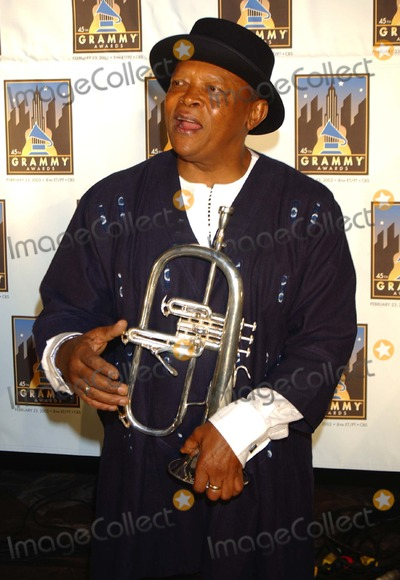 Hugh Masekela Photo - Grammy Fest 2003 Songs of the City: a Celebration of NY in Song. at the Winter Garden - World Financial Center, New York City 1/30/2003 Photo: Ken Babolcsay/ Ipol/ Globe Photos Inc. 2003 Hugh Masekela
