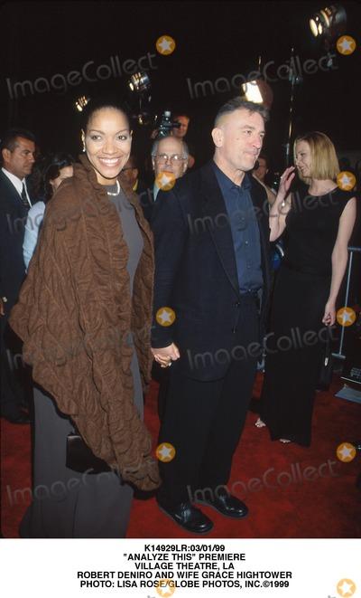 "Grace Hightower, ROBERT DENIRO Photo - :03/01/99 ""Analyze This"" Premiere Village Theatre, LA Robert Deniro and Wife Grace Hightower Photo: Lisa Rose/Globe Photos, Inc."