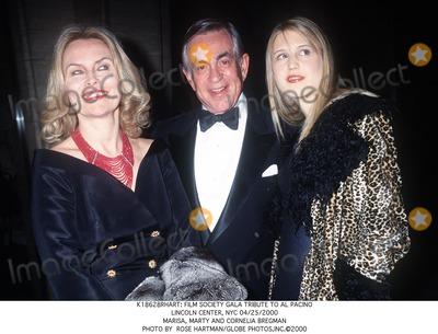 Al Pacino, Cornelia Bregman Photo - : Film Society Gala Tribute to AL Pacino Lincoln Center, NYC 04/25/2000 Marisa, Marty and Cornelia Bregman Photo by Rose Hartman/Globe Photos,inc.