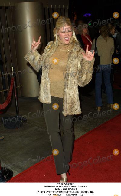"""Sarah Ann Morris Photo - """"The Pledge"""" Premiere at Egyptian Theatre in LA. Sarah Ann Morris Photo by Fitzroy Barrett / Globe Photos Inc. 01-09-2001 K20706fb (D)"""