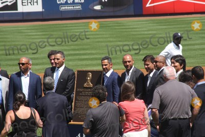 Andy Pettitte, Derek Jeter, Mariano Rivera Photo - New York Yankees Retire Andy Pettitte Number46 on Sunday August 23rd 2015 Jose Posada Number 20 Was Also Retired on Saturday August 22nd 2015!!! Photo by William Regan- Globe Photos Inc.