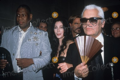 Karl Lagerfeld, Andre Talley, Cher, André Talley Photo - Karl Lagerfeld with Andre Talley and Cher Metropolitan Museum's Costume Institute Gala Opening Versace Exhibit 1997 K10775smo Photo by Sonia Moskowitz-Globe Photos, Inc.