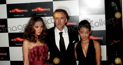 Alice Kim, Rose Byrne, NICHOLAS CAGE Photo - Premiere of Knowing Amc Lows Lincoln Square Theatre, New York City 03-09-2009 Photo by Rick Mackler-rangefinder-Globe Photos, Inc. 2009 Rose Byrne, Nicholas Cage, Alice Kim