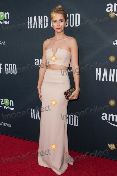 """Alona Tal Photo - Alona Tal attends Premiere of Amazon's Series """"Hand of God"""" on August 19th, 2015 at the Ace Theater,los Angeles,california.photo:tony Lowe/Globephotos"""