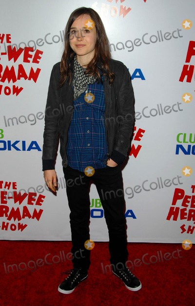 "Ellen Page, Pee-wee Herman Photo - Ellen Page attends Opening Night Red Carpet of the ""pee-wee Herman Show"" Held at the Nokia Theatre in Los Angeles, CA. 01-20-10 Photo by: D. Long- Globe Photos Inc. 2009"