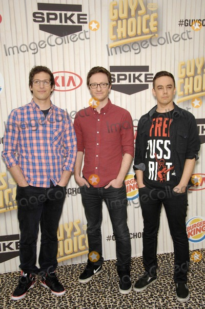 Jorma Taccone, Akiva Schaffer, Andy Samberg Photo - Andy Samberg, Akiva Schaffer and Jorma Taccone During Spike Tv's Guys Choice 2013, Held at Sony Picture Studios, on June 8, 2013, in Culver City, California. Photo: Michael Germana / Superstar Images - Globe Photos