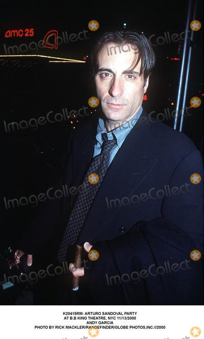 Andy Garcia, Arturo Sandoval, B B King, B. B. King, B.B. King, BB KING Photo - : Arturo Sandoval Party at B.b King Theatre, NYC 11/13/2000 Andy Garcia Photo by Rick Mackler/rangefinder/Globe Photos,inc.