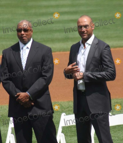Andy Pettitte, Bernie Williams, Derek Jeter Photo - New York Yankees Retire Andy Pettitte Number46 on Sunday August 23rd 2015 Jose Posada Number 20 Was Also Retired on Saturday August 22nd 2015!!! Photo by William Regan- Globe Photos Inc.