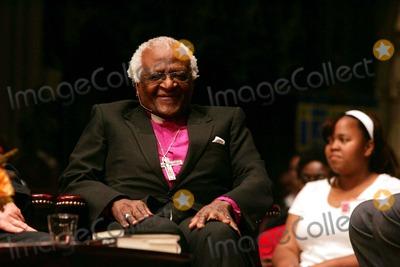 "Desmond Tutu, Archbishop Desmond Tutu Photo - Archbishop Desmond Tutu at the Trinity Church to Discuss, ""Rabble Rouser For Peace; the Authorized Autobiography of Desmond Tutu."" Broadway and Wall Street, New York City. 10-18-2006 Photo: Rick Mackler / Rangefinders / Globe Photos Inc"