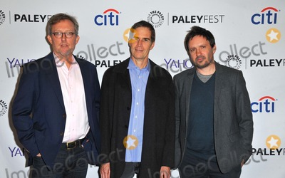 """Alex Gansa, Chip Johannessen, Alex Cary Photo - Alex Gansa, Chip Johannessen, Alex Cary attending the Paley Center For Media's 32nd Annual Paleyfest L.A. Honoring """"Homeland"""" Held at the Dolby Theatre in Hollywood, California on March 6, 2015 Photo by: D. Long- Globe Photos Inc."""