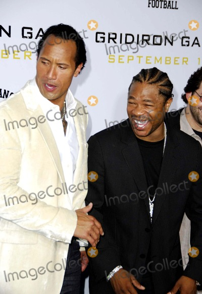 """Dwayne Johnson, Alvin """"Xzibit"""" Joiner, Alvin 'Xzibit' Joiner, Alvin Xzibit Joiner, Dwayne """"The Rock"""" Johnson, Dwayne 'The Rock' Johnson, Xzibit, THE ROCK, Grauman's Chinese Theatre Photo - Dwayne 'the Rock' Johnson and Alvin 'Xzibit' Joiner During the Premiere of the New Movie From Columbia Pictures' Gridiron Gang, Held at Grauman's Chinese Theatre, on September 5, 2006, in Los Angeles. Photo: Michael Germana-Globe Photos,inc."""