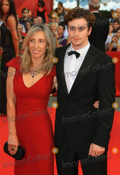 """Aaron Johnson, Sam Taylor-Wood, Sam Taylor Photo - Sam Taylor-wood, Aaron Johnson Designer & Actor """"Baaria"""" Premiere and the Opening Ceremony of 66th Venice Film Festival in Venice, Italy 09-02-2009 Photo by Graham Whitby Boot-allstar-Globe Photos, Inc."""