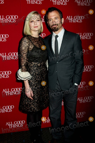 """Kirsten Dunst, ANDREW JARECKI Photo - """"All Good Things"""" New York Premiere Sva Theater, NYC December 1, 2010 Photos by Sonia Moskowitz, Globe Photos Inc 2010 Kirsten Dunst, Andrew Jarecki"""