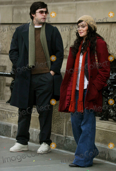 "Jared Leto, Lindsay Lohan, John Lennon Photo - Filming of "" Chapter 27 "" Story of Mark David Chapman and the Day Leading to the Murder of John Lennon at West 72 St Central Park West , New York City 01-21-2006 Photo by John Barrett-Globe Photos ,Inc Lindsay Lohan_jared Leto"