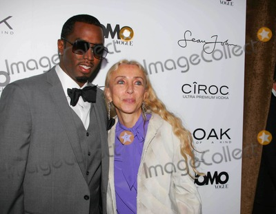 """Diddy, Diddy Combs, P. Diddy, P. Diddy Combs, Sean """"P. Diddy"""" Combs, Sean 'P. Diddy' Combs, Sean P Diddy Combs, """"Diddy"""" Combs, """"P. Diddy"""" Combs, Sean """"Diddy"""" Combs, Sean 'Diddy' Combs, Sean Diddy Combs, P Diddy, Editors, Franca Sozzani Photo - K60161RMA COCKTAIL PARTY  AT 1 OAK TO CELEBRATE SEAN """"DIDDY"""" COMBS APPEARANCE ON THE """"BLACK ON BLACK"""" COVER OF L'UOMO VOGUE'S OCTOBER MUSIC ISSUE IN NEW YORK CITY 10-22-2008PHOTOS BY RICK MACKLER RANGEFINDER-GLOBE PHOTOS INC.2008SEAN """"DIDDY"""" COMBS AND FRANCA SOZZANI {EDITOR IN CHIEF L'UOMO VOGUE)"""