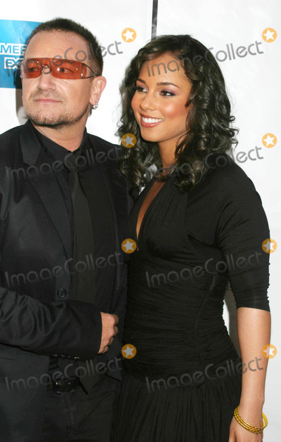 "Alicia Keys, Bono Photo - Tribeca Film Festival Screening of ""We Are Together"" Clearview Chelsea West Cinema, New York City 04-26-2007 Photo by Paul Schmulbach-Globe Photos, Inc. Bono and Alicia Keys"