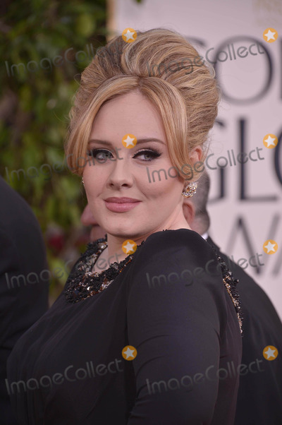 Adele Photo - Adele Arrives on the Red Carpet to the 70th Golden Globe Awards, at the Beverly Hilton Hotel on January 13, 2013 in Beverly Hills, CA Photos by Joe White-Globe Photos Inc.